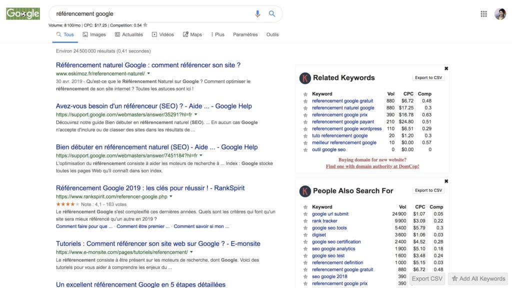 outil pour trouver des mots clés sur Google