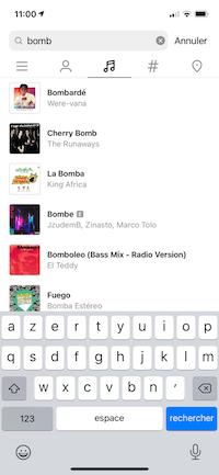 recherche audio reels instagram